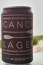 Canoe Lager Solomon Islands