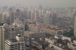 Typical Chinese city view