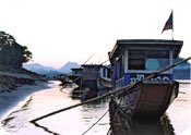 Boats Moored on the River, Luang Prabang